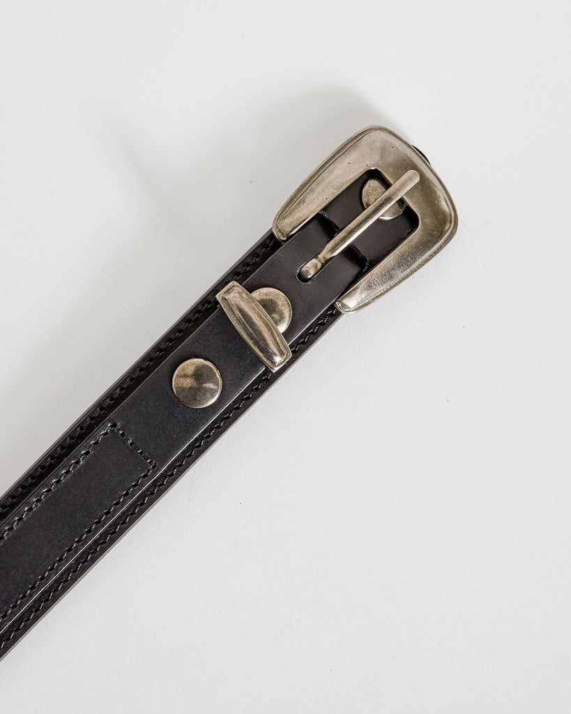 Minimal Western Belt in Black