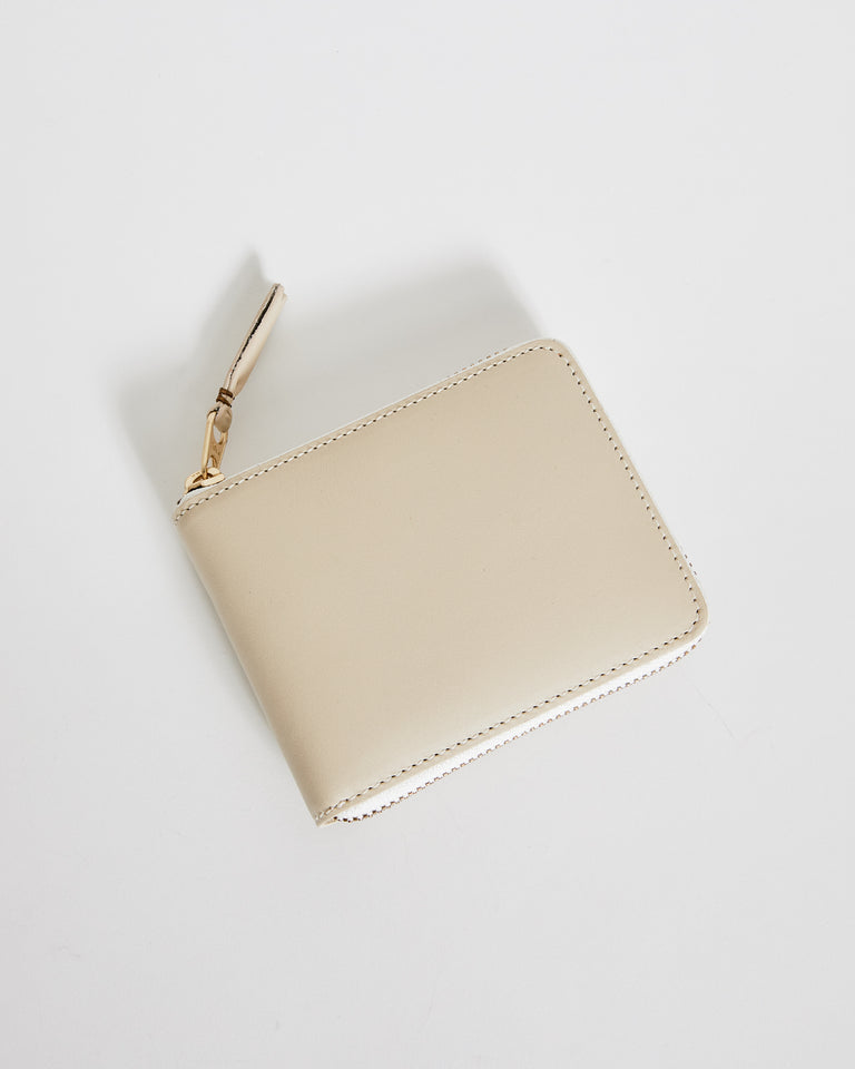 SA7100 Classic Leather Line Wallet in White