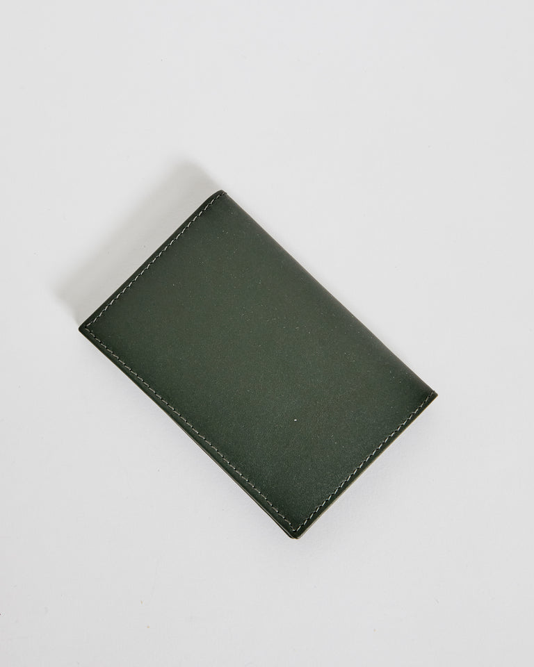 6400 Classic Leather Line Wallet in Bottle Green