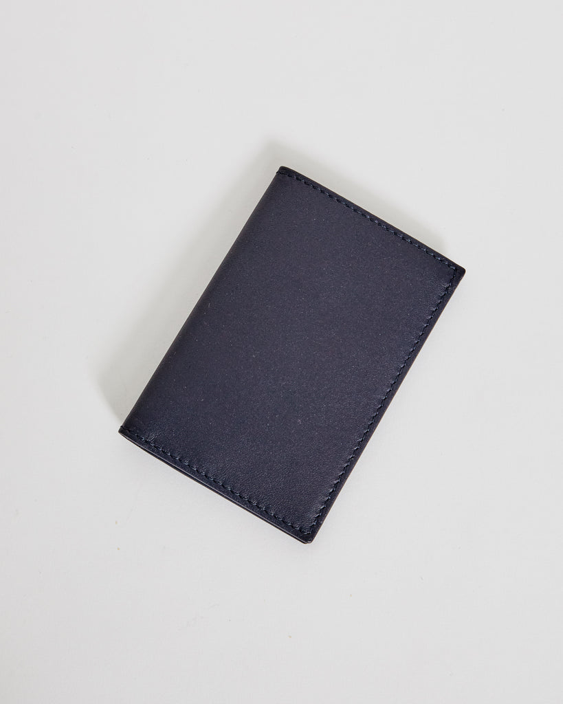 6400 Classic Leather Line Wallet in Navy