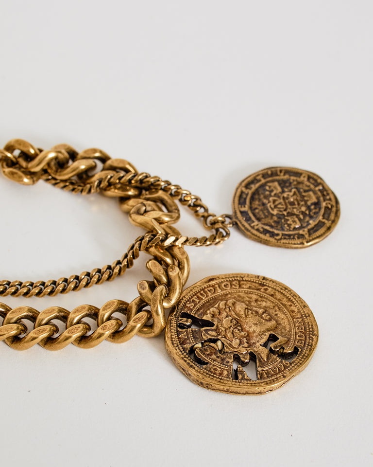 Charm Bracelet in Antique Gold