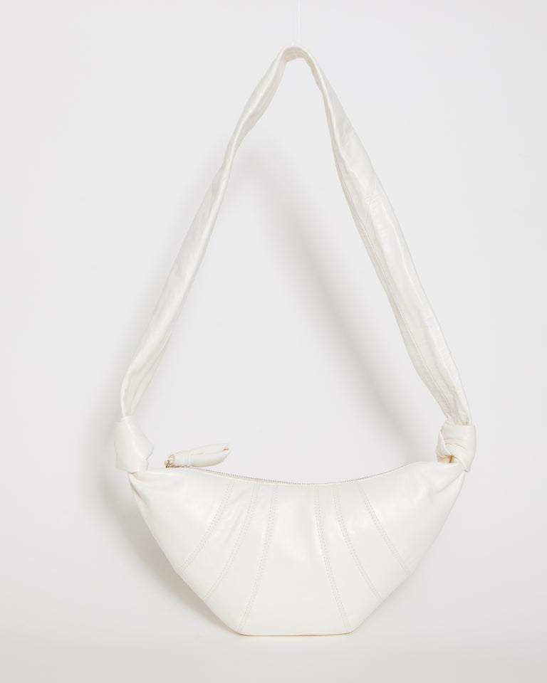 Small Croissant Bag in White