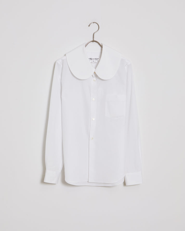 B017 Blouse in White
