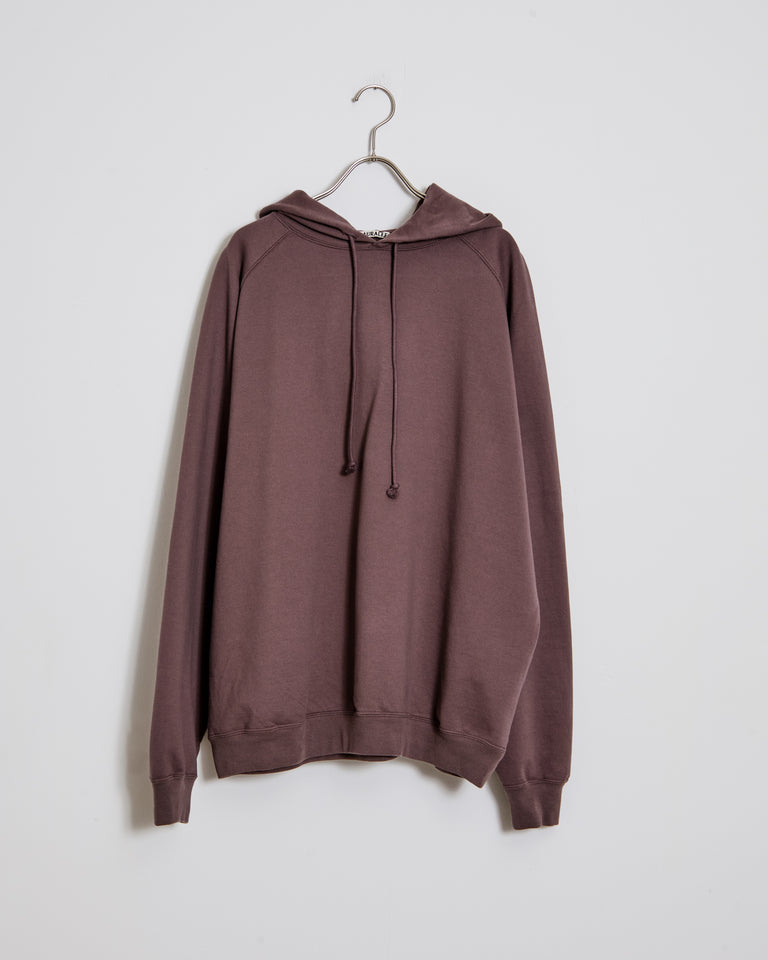 Super Soft Sweat Big Parka in Purple