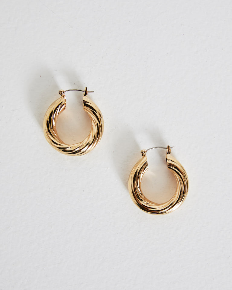 Gaia Earrings in Brass