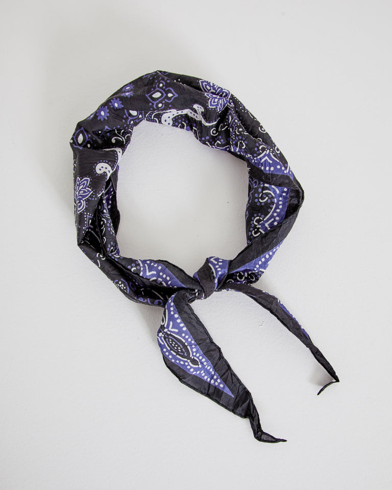 Scarf in Black/Blue