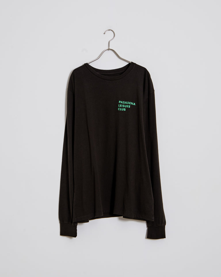 Easy Living Long Sleeve Tee in Faded Black