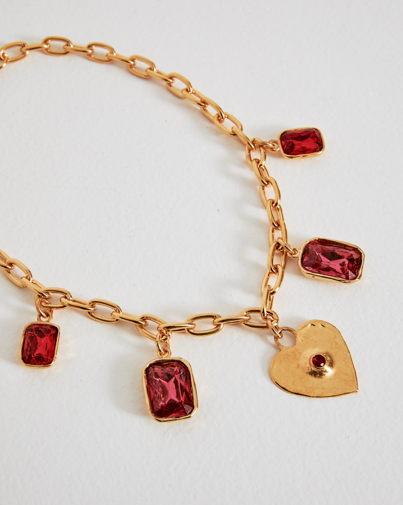 Heart Charm Necklace in 18""