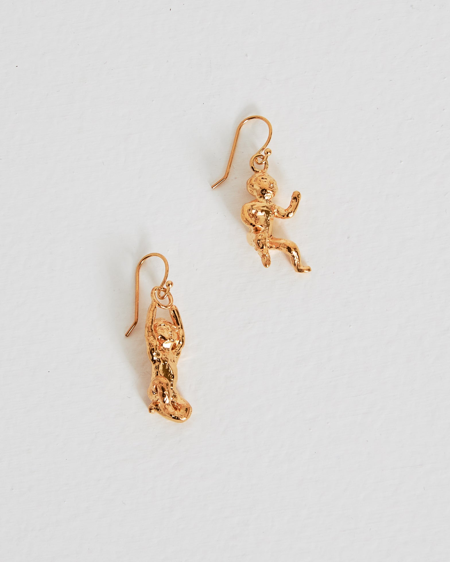 Remus and Romulus Earrings in 18k Gold Vermeil