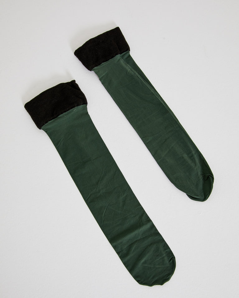 Socks 211-001 in Bottle Green