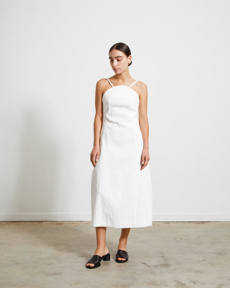 Curveline Dress in White