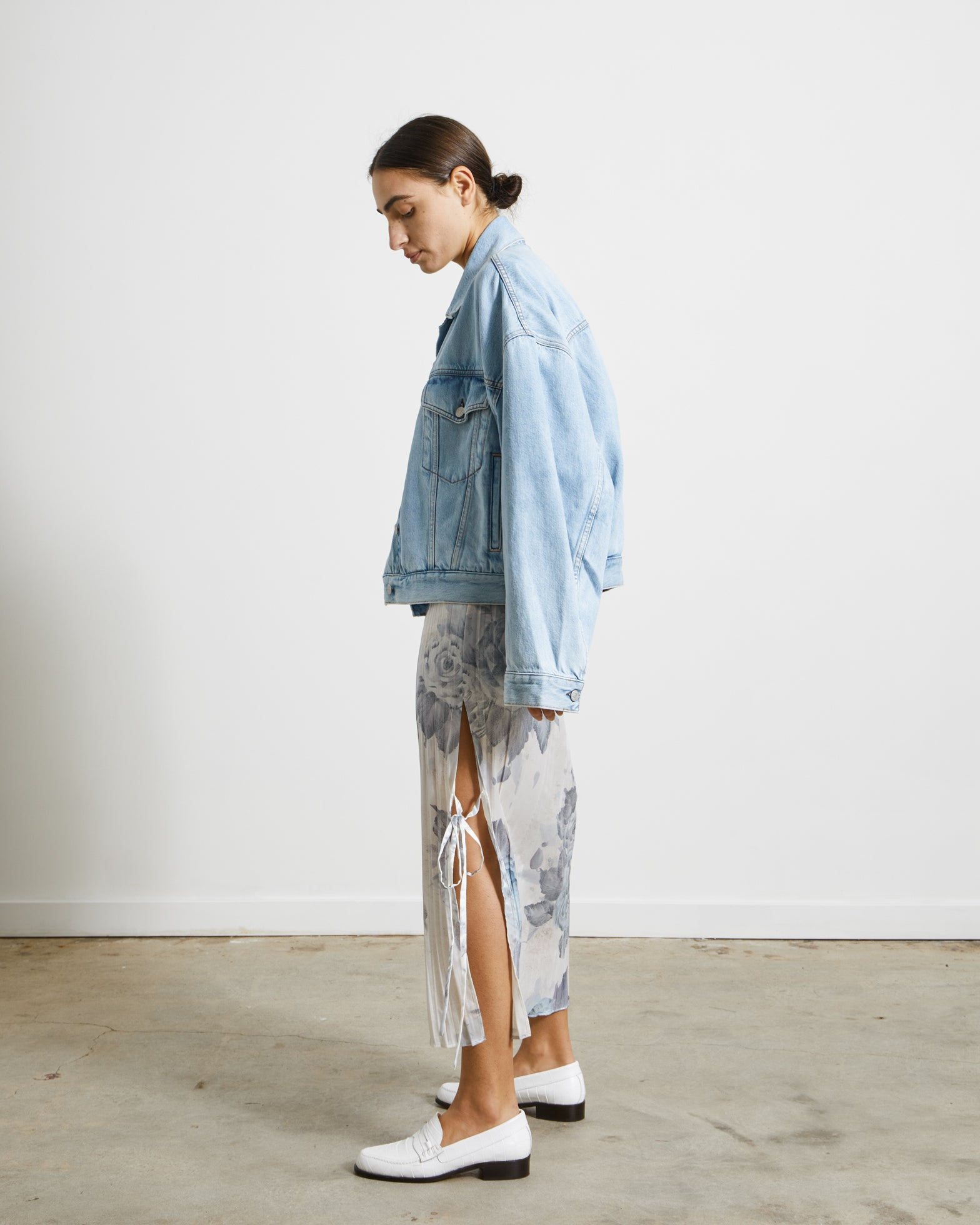Cropped Jacket in Light Blue