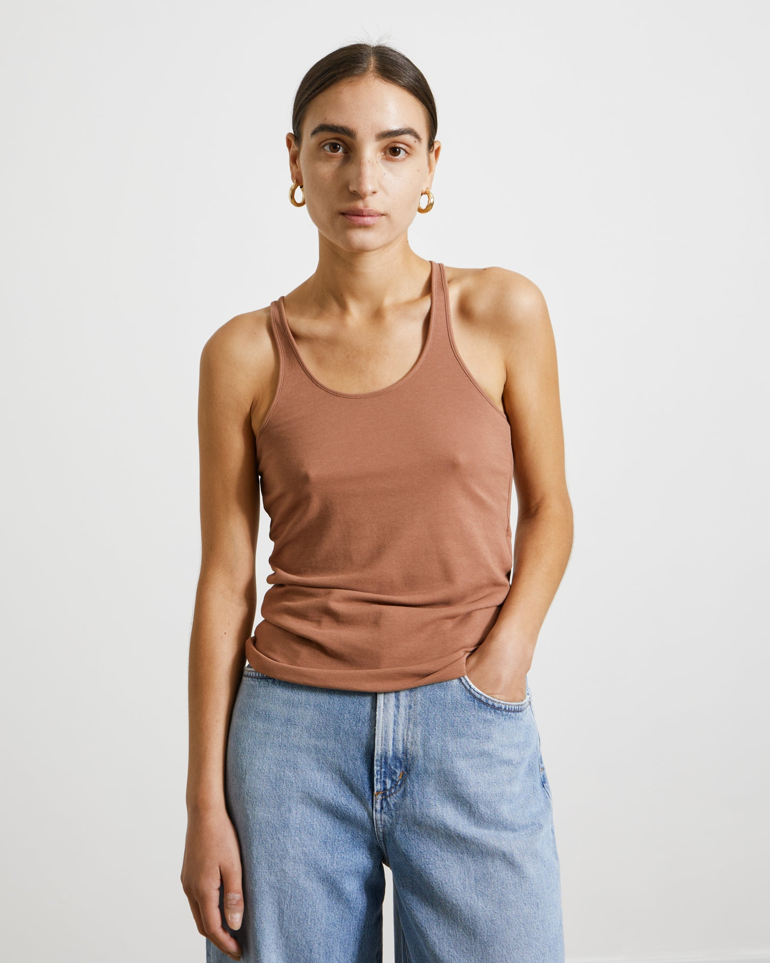 Jersey Tank Top in Terracotta