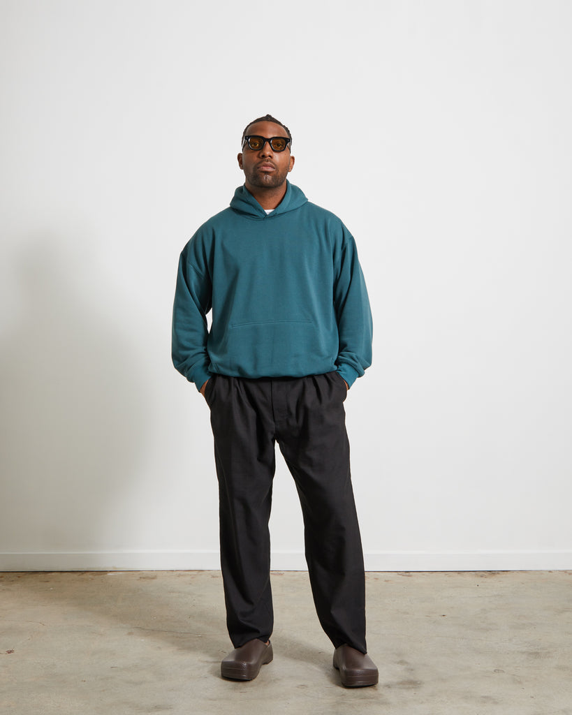 Doman Sweat Hoodie in Green