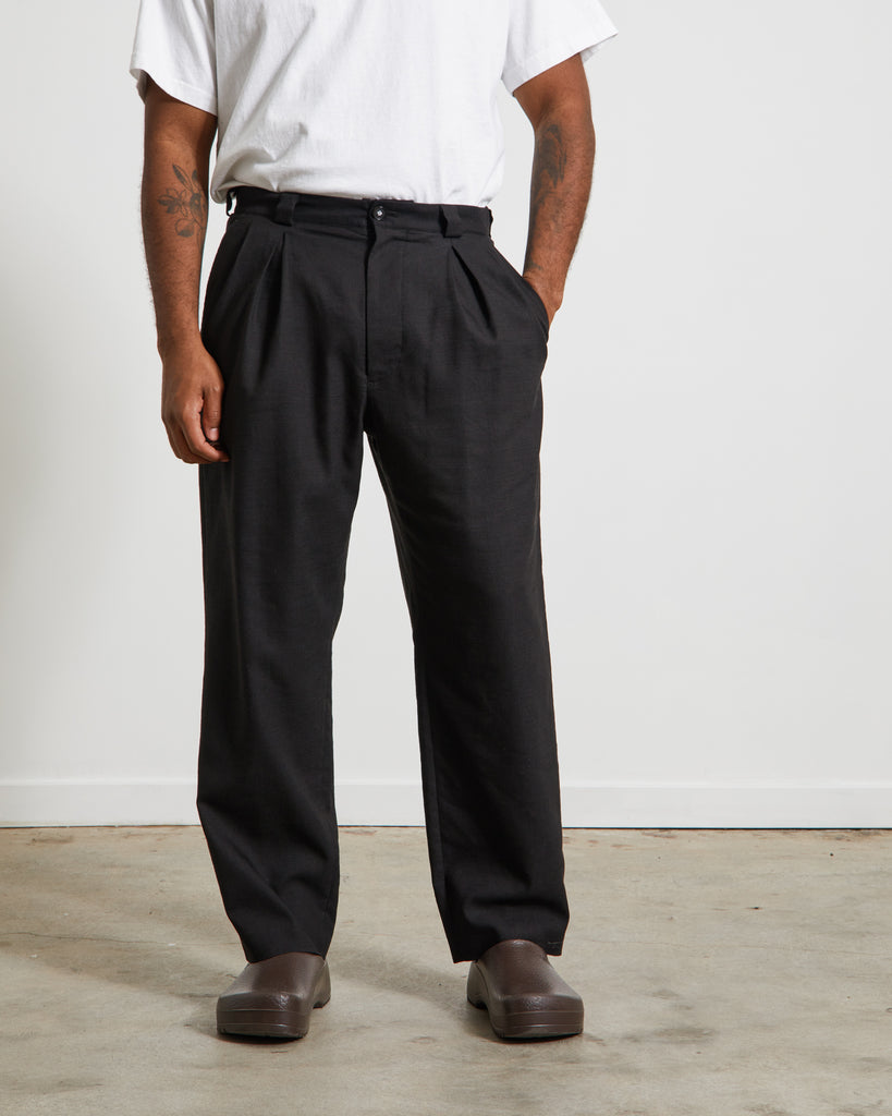 Kung-fu Tapered Pants in Black
