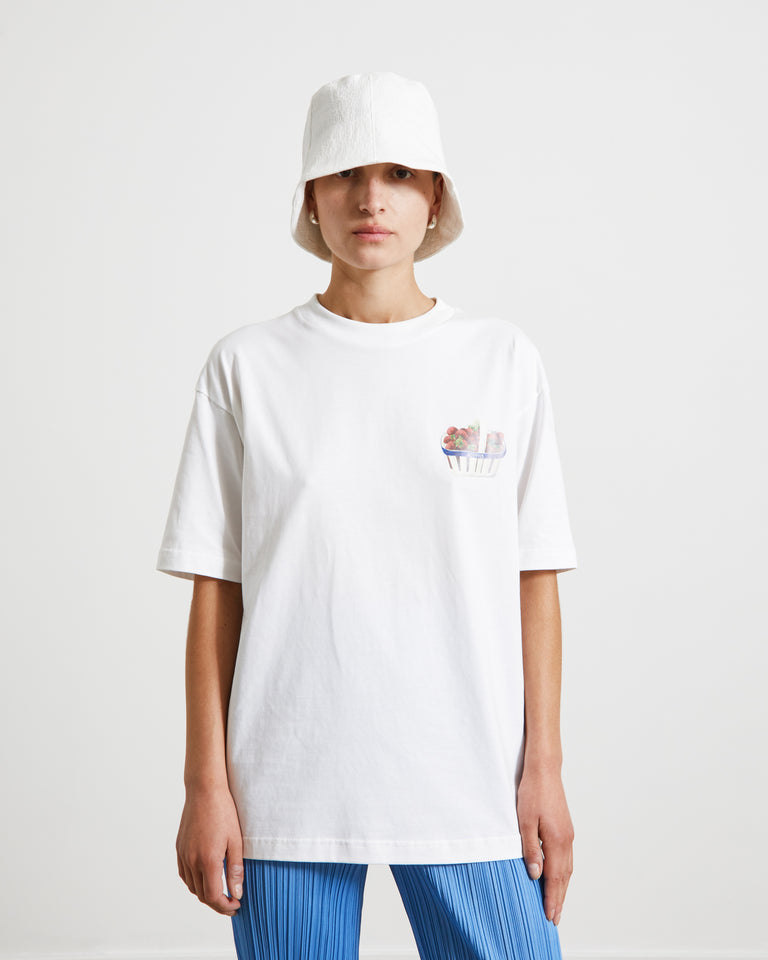 Le T-Shirt Fraises in White