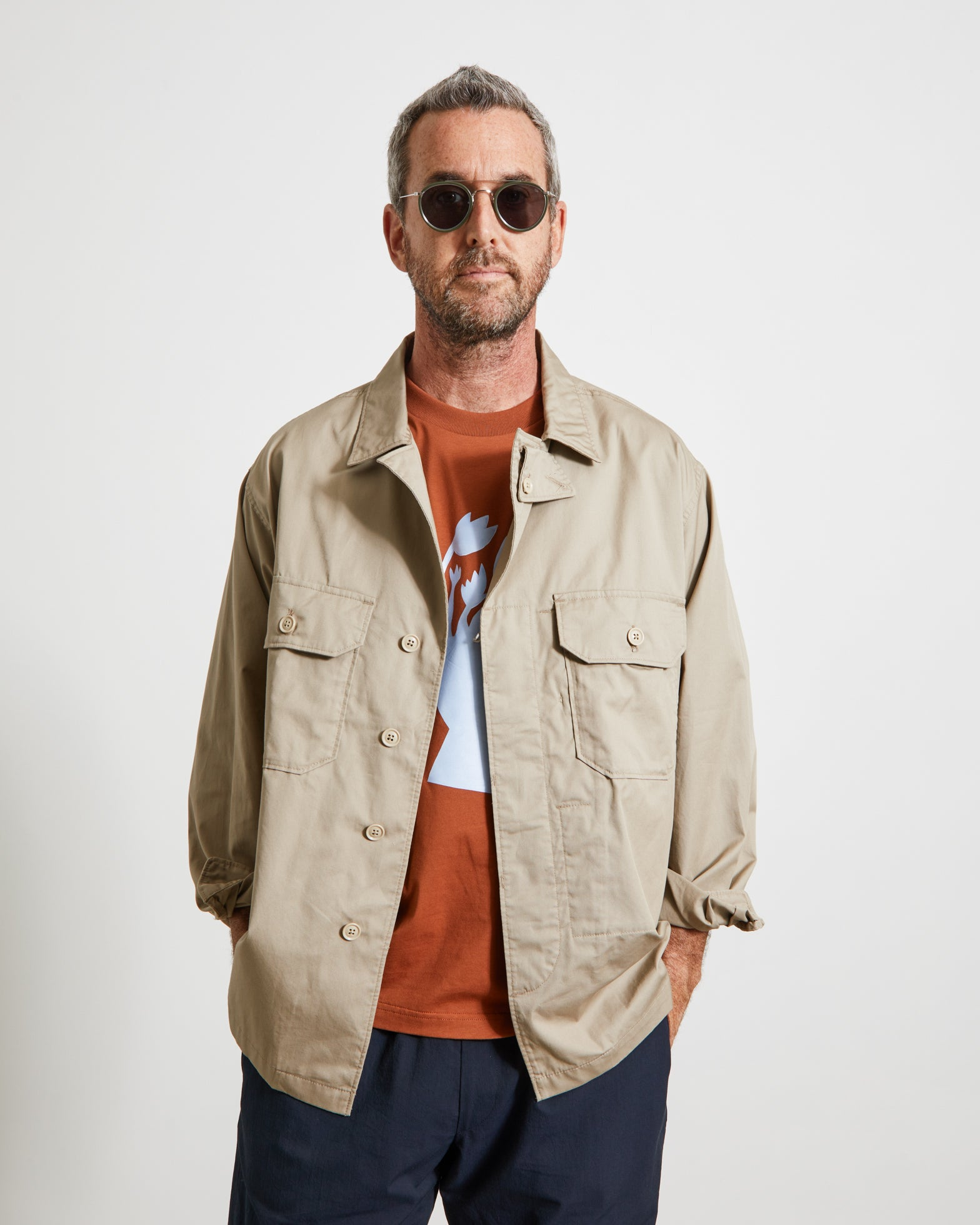 MC Shirt Jacket in Khaki