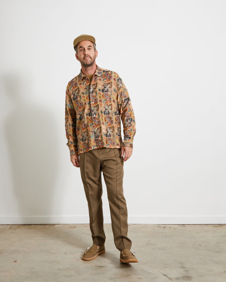 Bay'ah Embroidered Havana Shirt in Fall Multi
