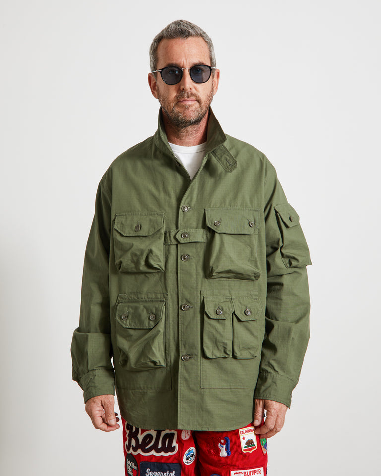 Ripstop Explorer Shirt Jacket in Olive
