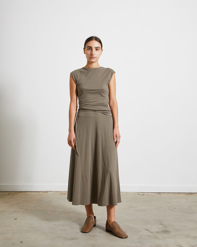 Jersey Sleeveless Dress in Granite Grey