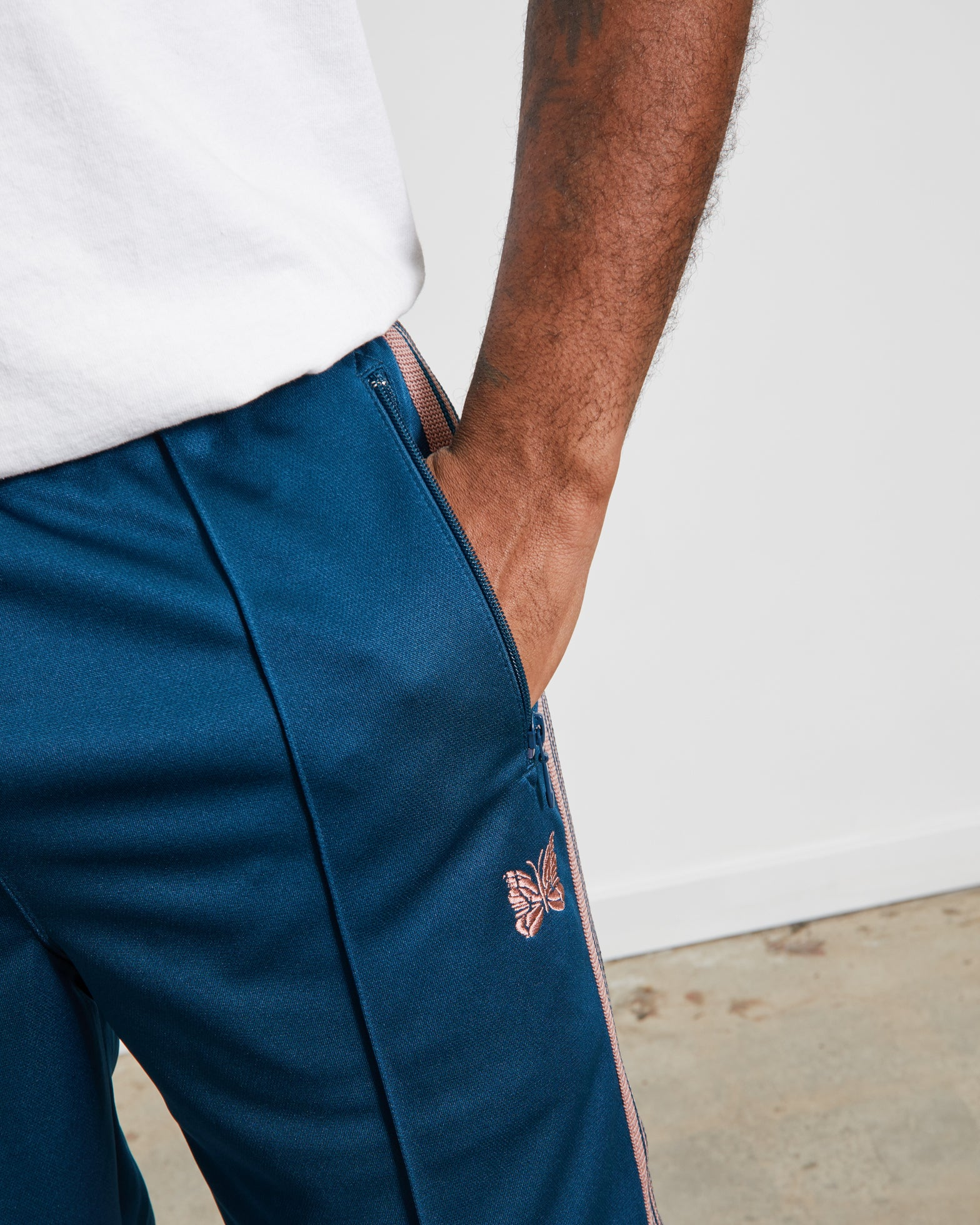 Track Pant in Teal Green