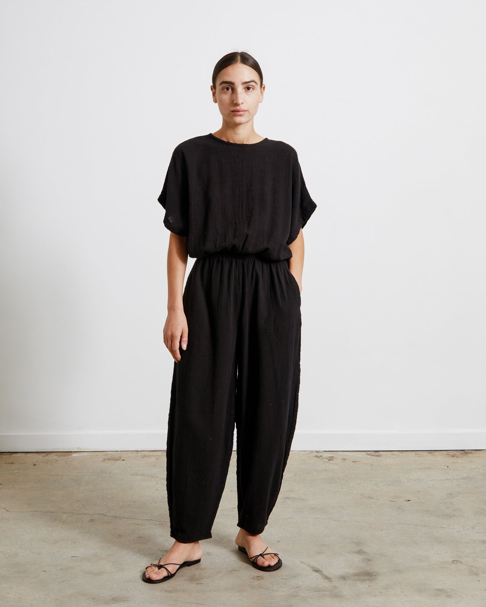 Mohawk General Store | Black Crane | Easy Jumpsuit in Black