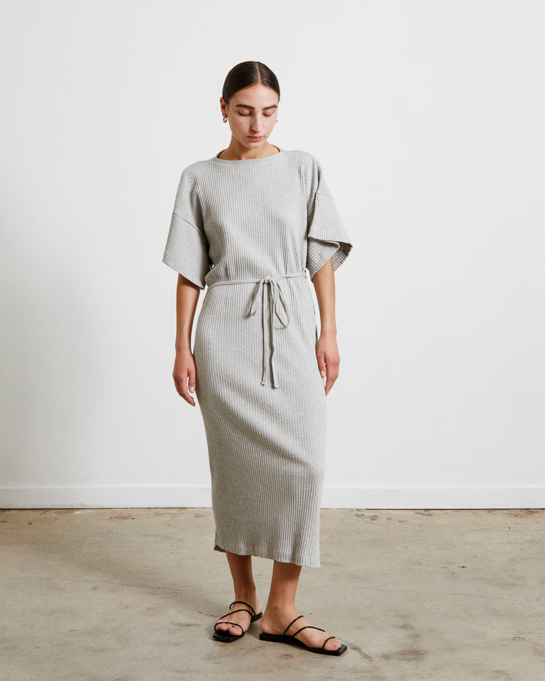 Clair Dress in Grey Melange