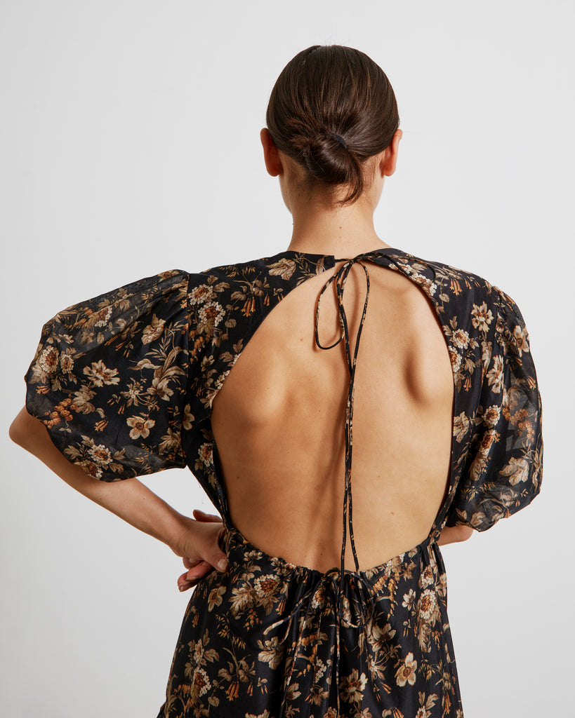 Amerie Open Back Dress in Amerie Print