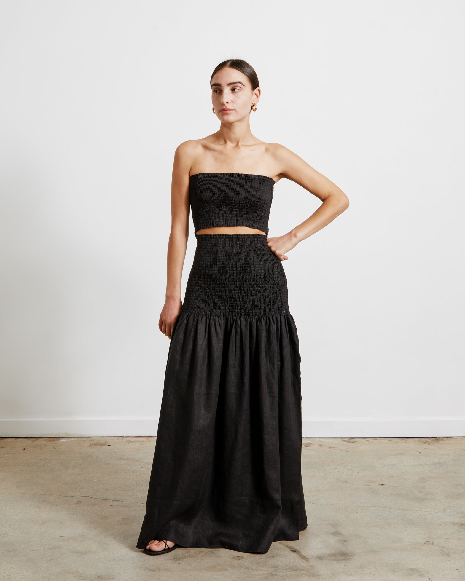 Madelyn Strapless Dress in Black