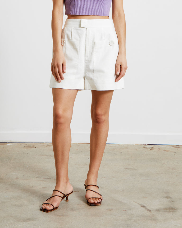 Martine Shorts in Ivory