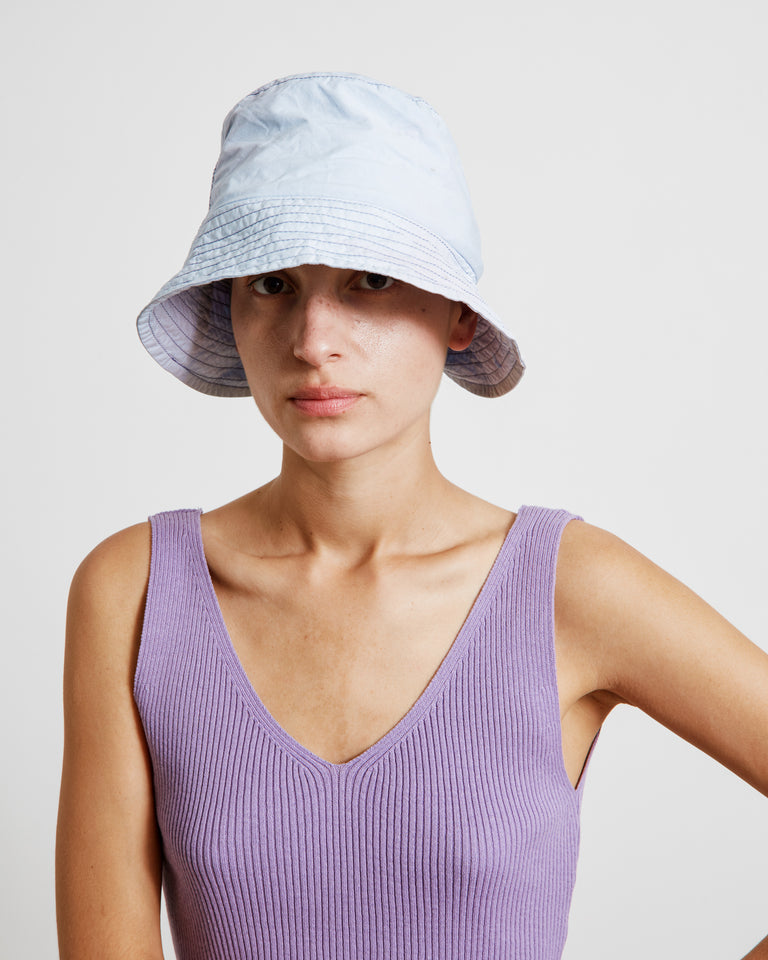 Bucket Hat in Powder Blue/Lilac