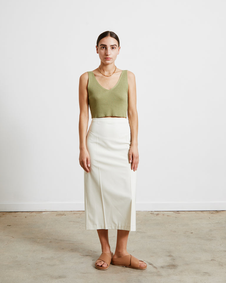 Slim Line Skirt in Cream