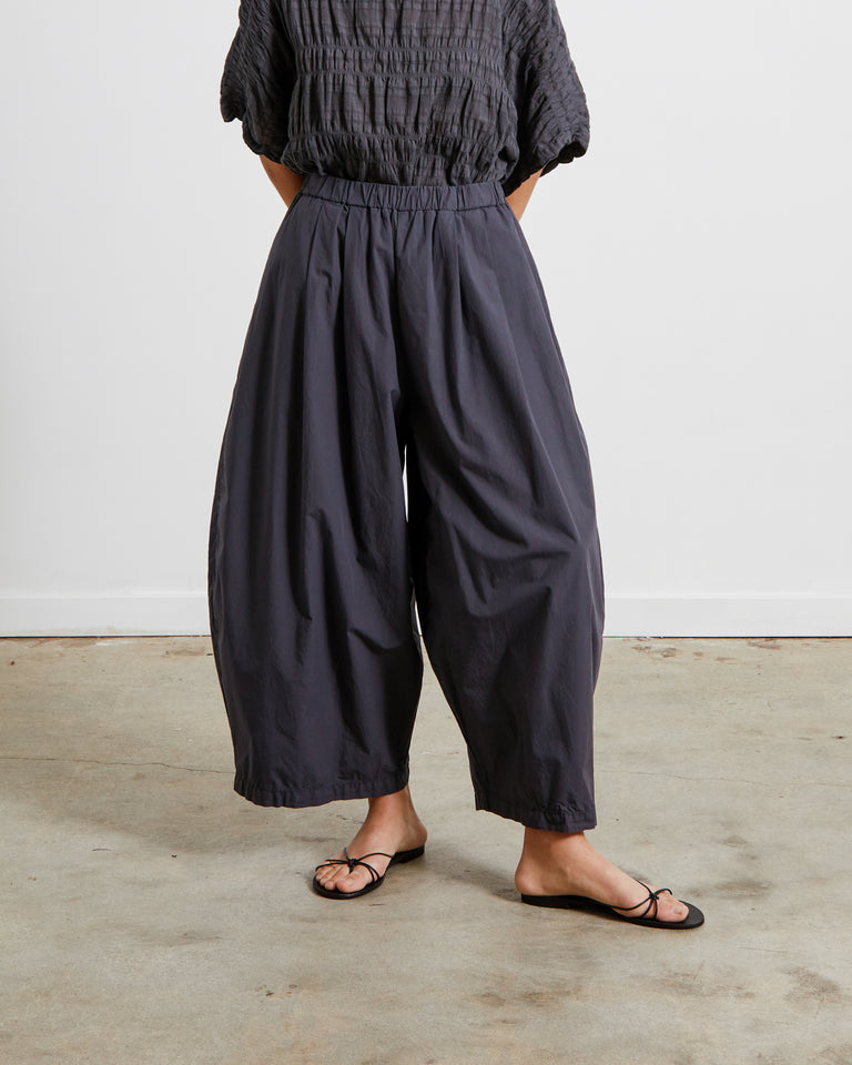 Wide Pants in Faded Black