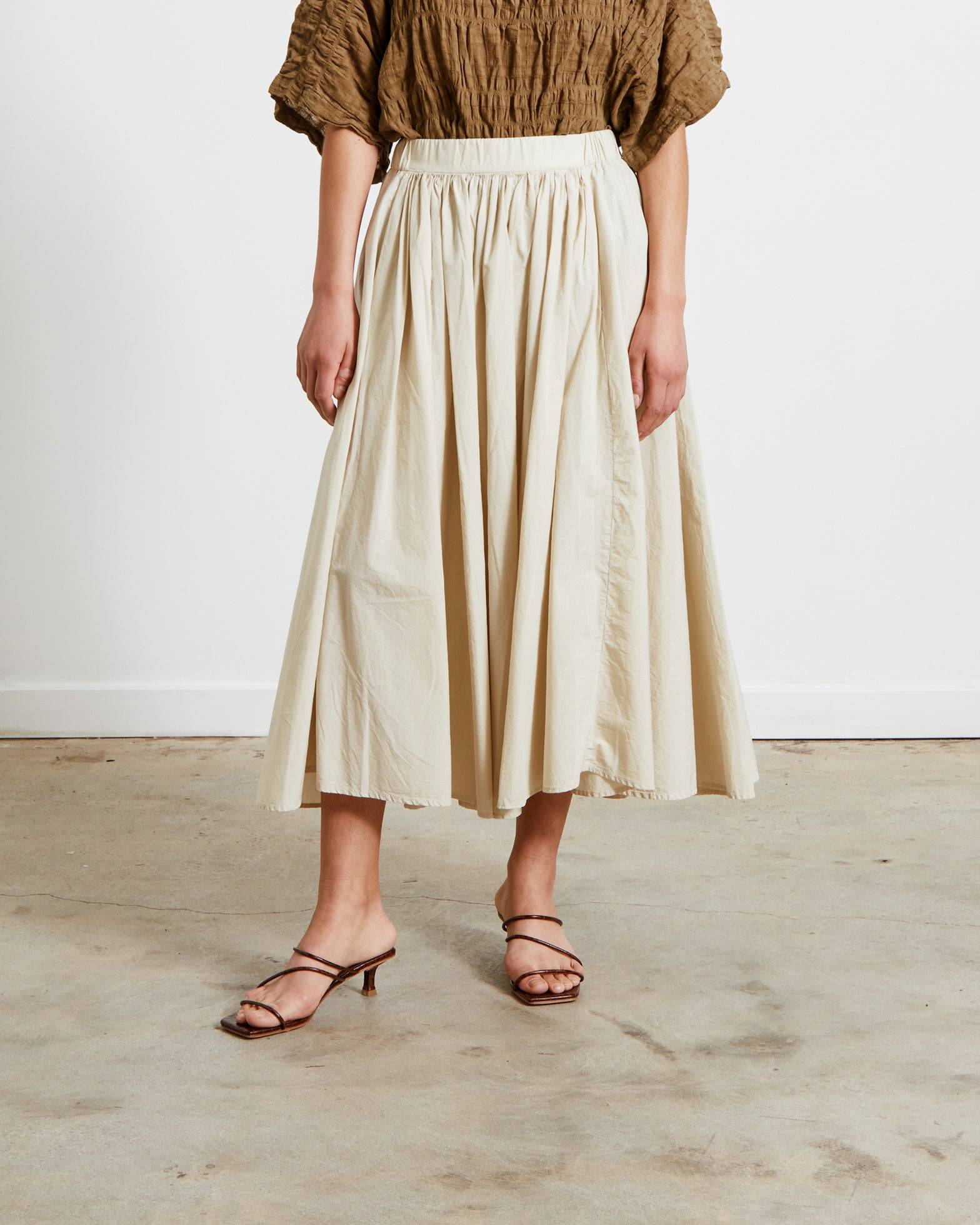 Mohawk General Store | Black Crane | Petal Skirt in Cloud