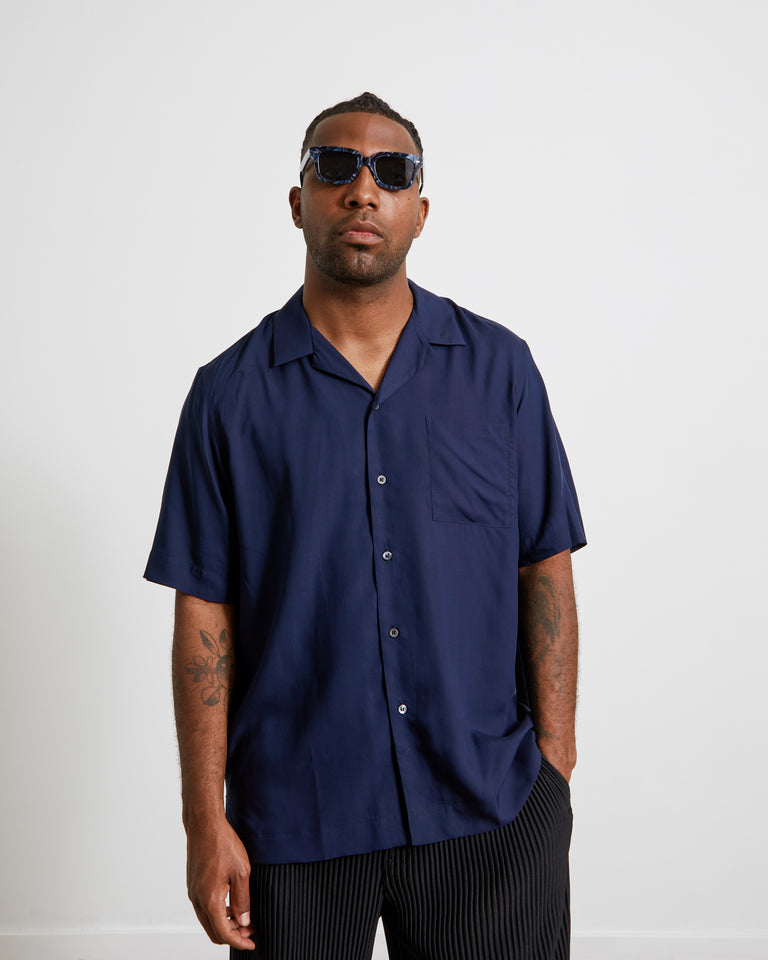 Carltone 2304 M.W. Shirt in Navy