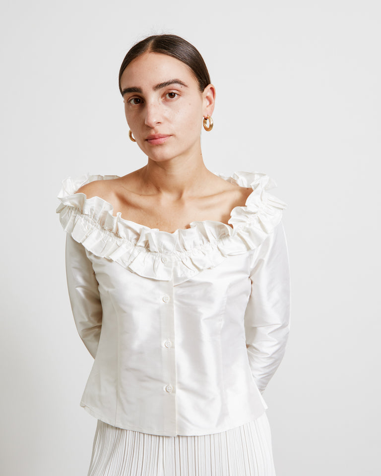 Amalia Blouse in White