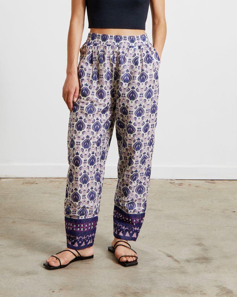 Bridgitte Border Pants in Violet