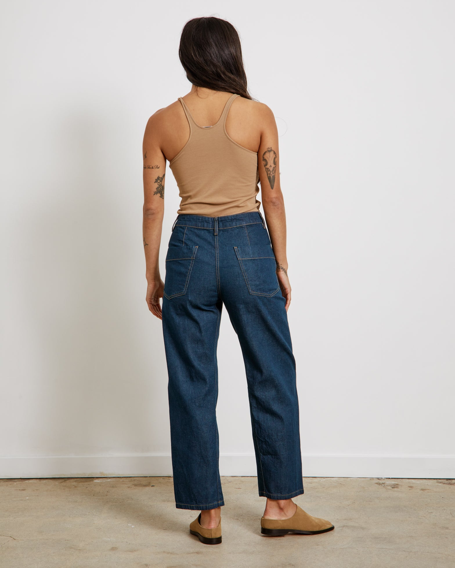 Twisted Pants in Jean Blue
