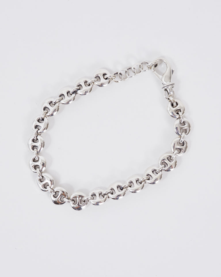Small Circle Link Bracelet in Sterling Silver