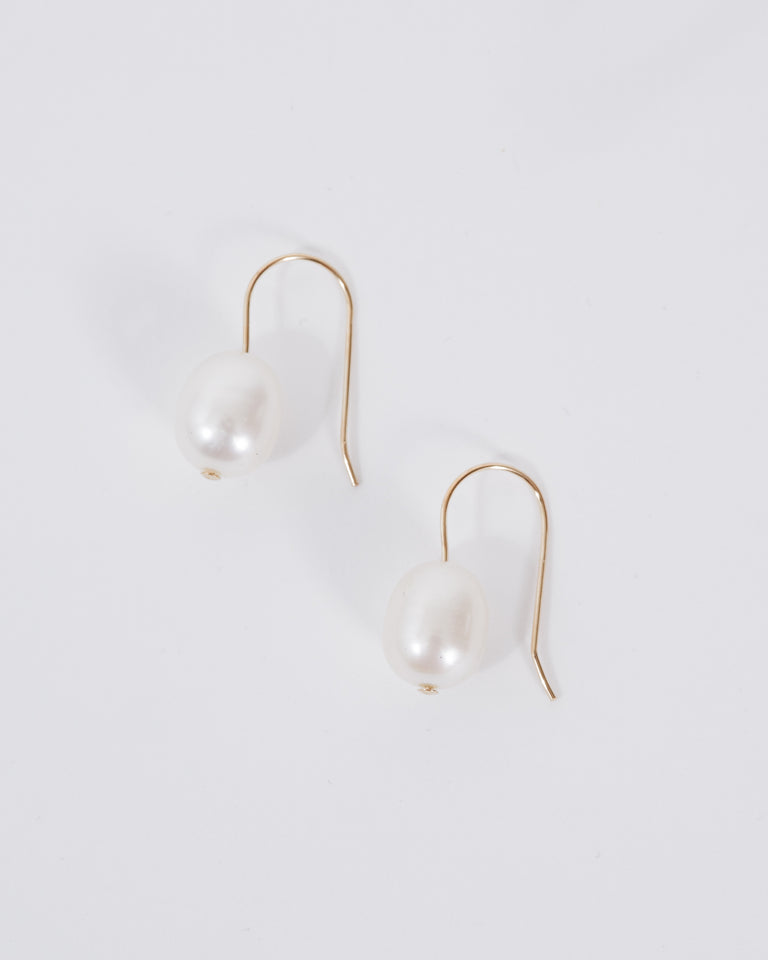 Single Pearl Earrings in 14K Gold Fill