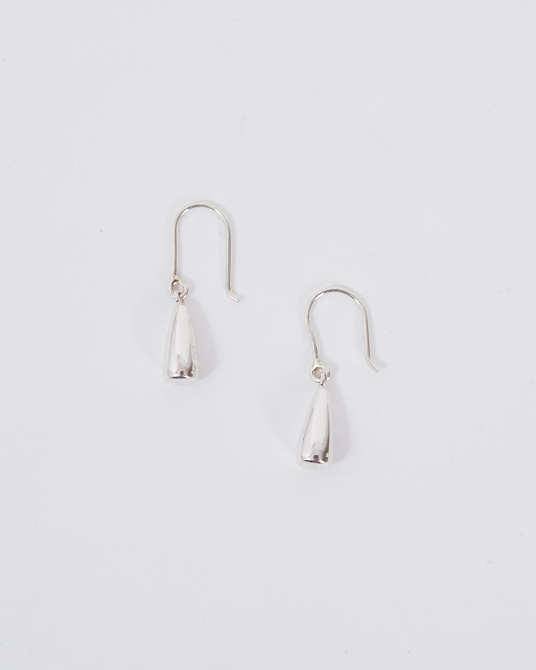 Tiny Dew Drop Earrings in Sterling Silver