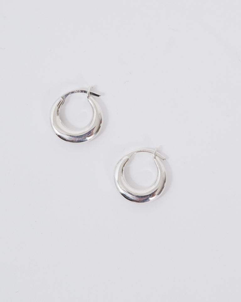 Tiny Essential Hoops in Sterling Silver