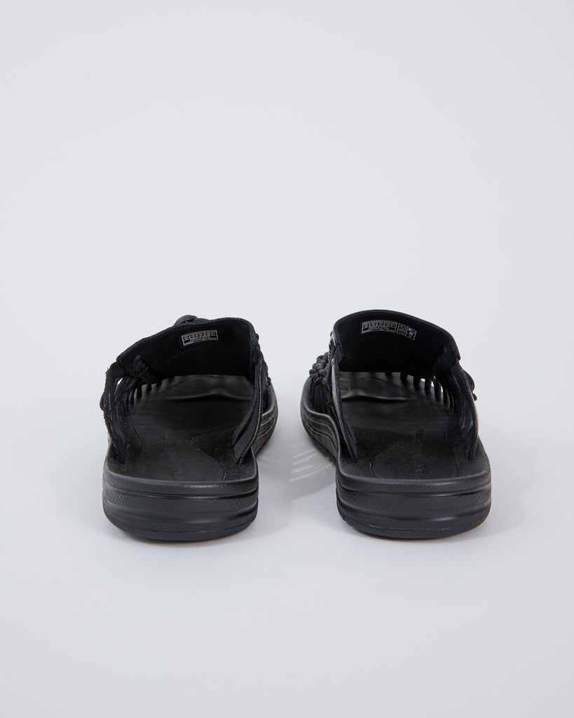Uneek Leather Slide in Triple Black