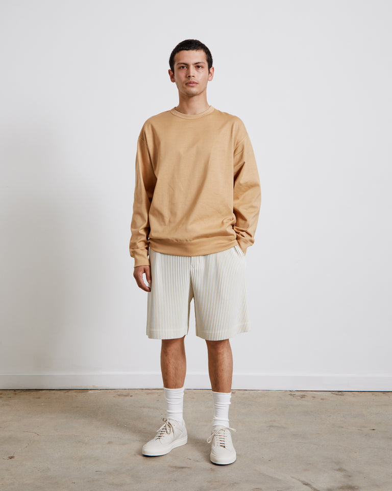 Lightweight Sweatshirt in Yellow Beige