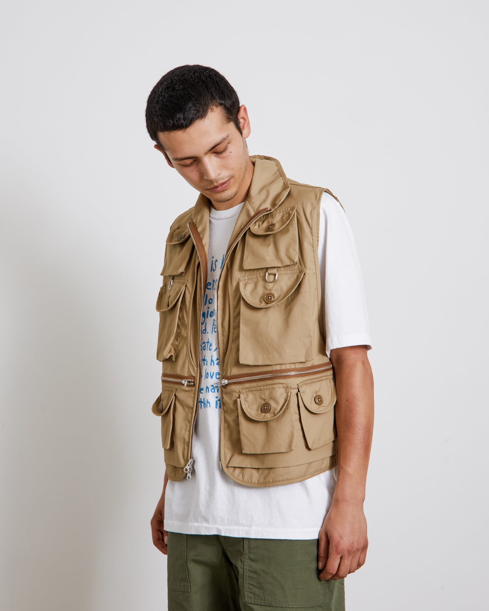 Mossy Fishing Vest in Khaki
