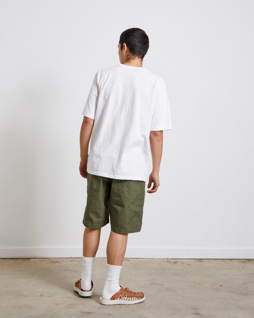 Jersey S/S Pocket Tee in White