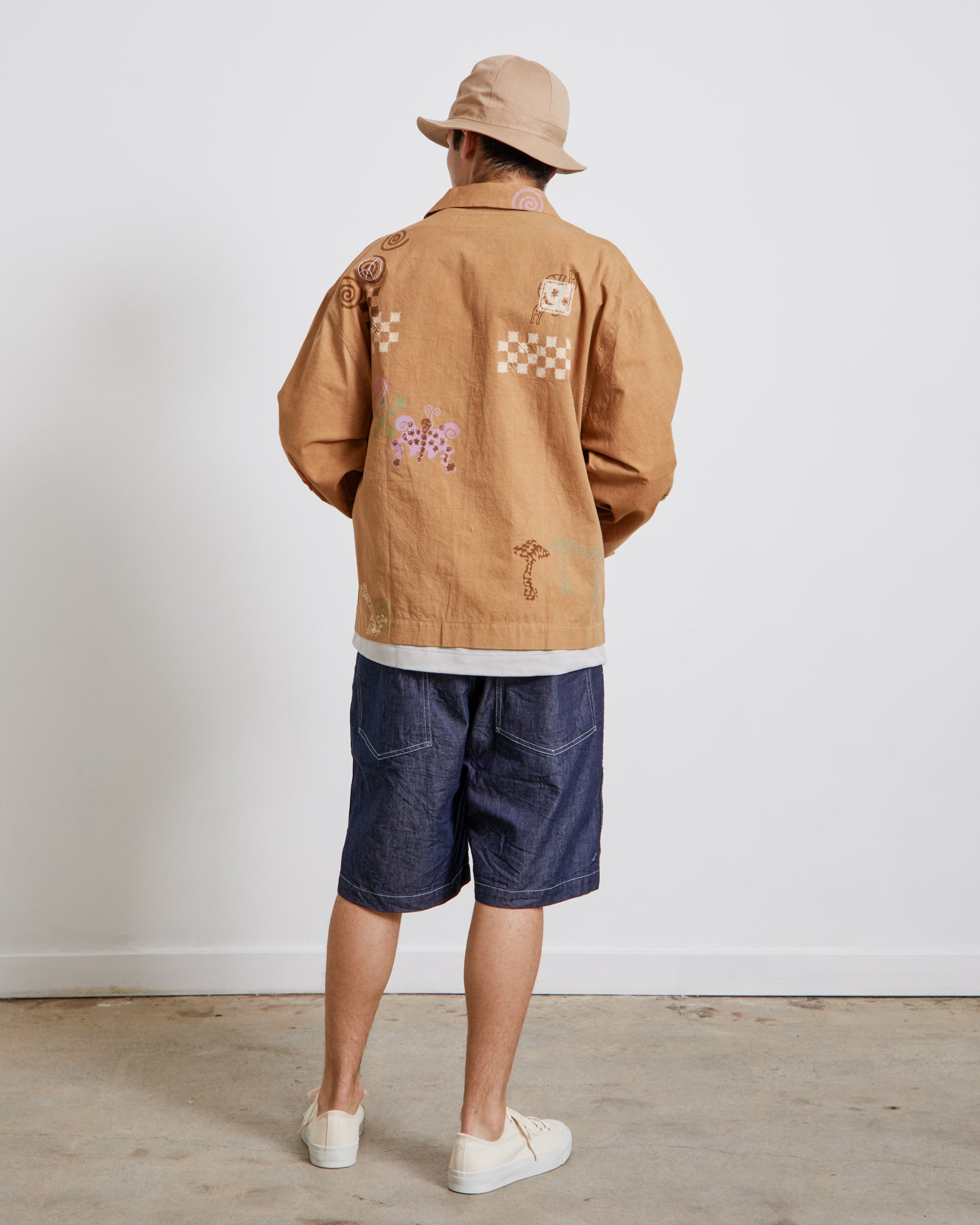 Short on Time Jacket in Bark Spiral Trip