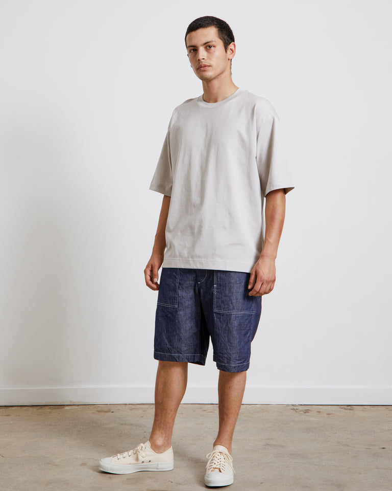 Yoke Seam T-Shirt in Grey