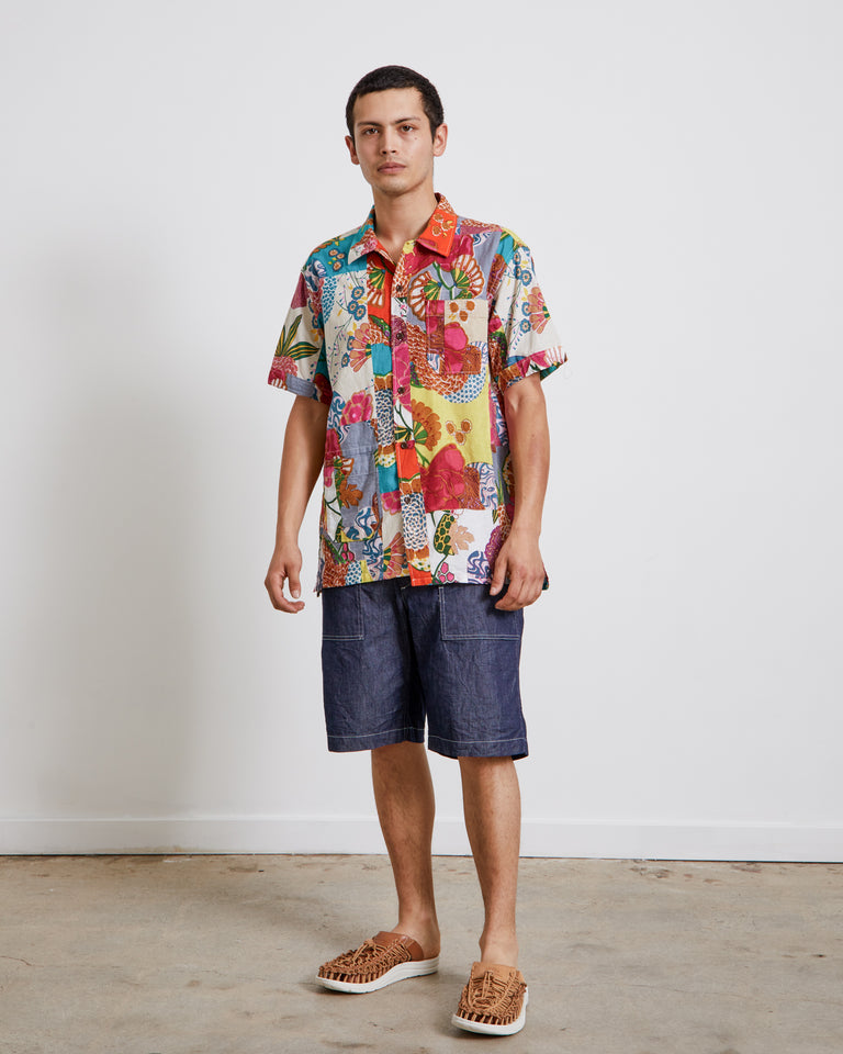 Patchwork Camp Shirt in Multi