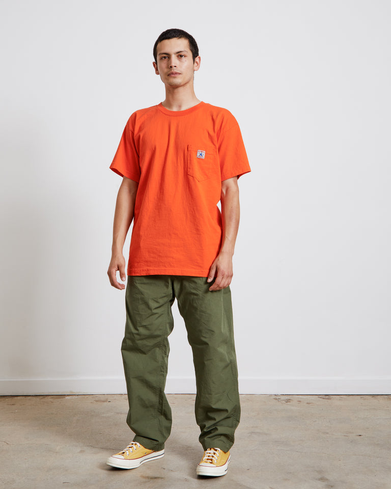 Randy's Garments Pocket Tee in Hi-Vis Orange